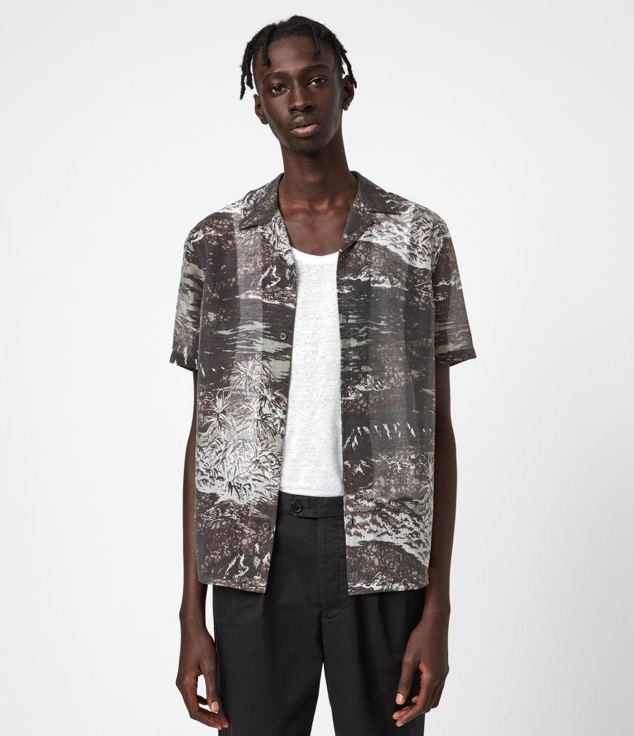 Herren Castaway Shirt (black_grey) - Image 1