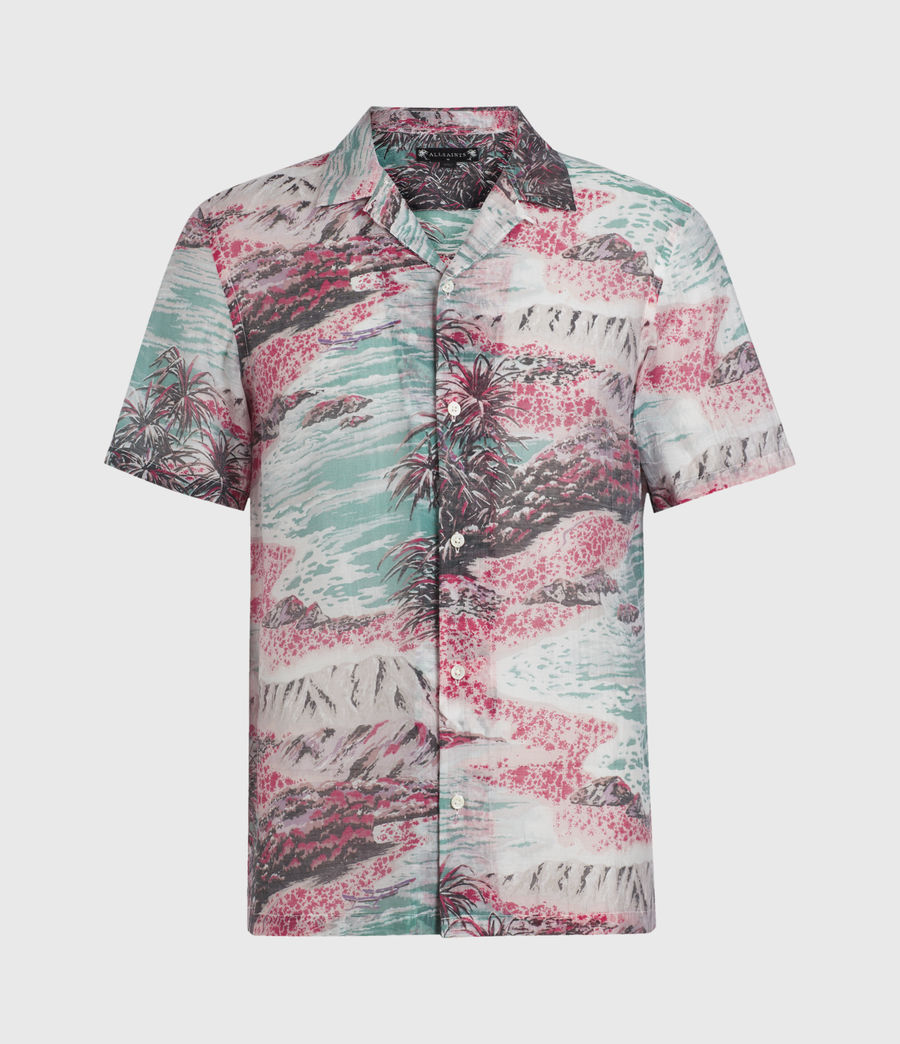 Men's Castaway Shirt (pink_green) - Image 1