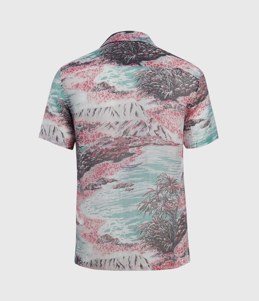 Men's Castaway Shirt (pink_green) - Image 2