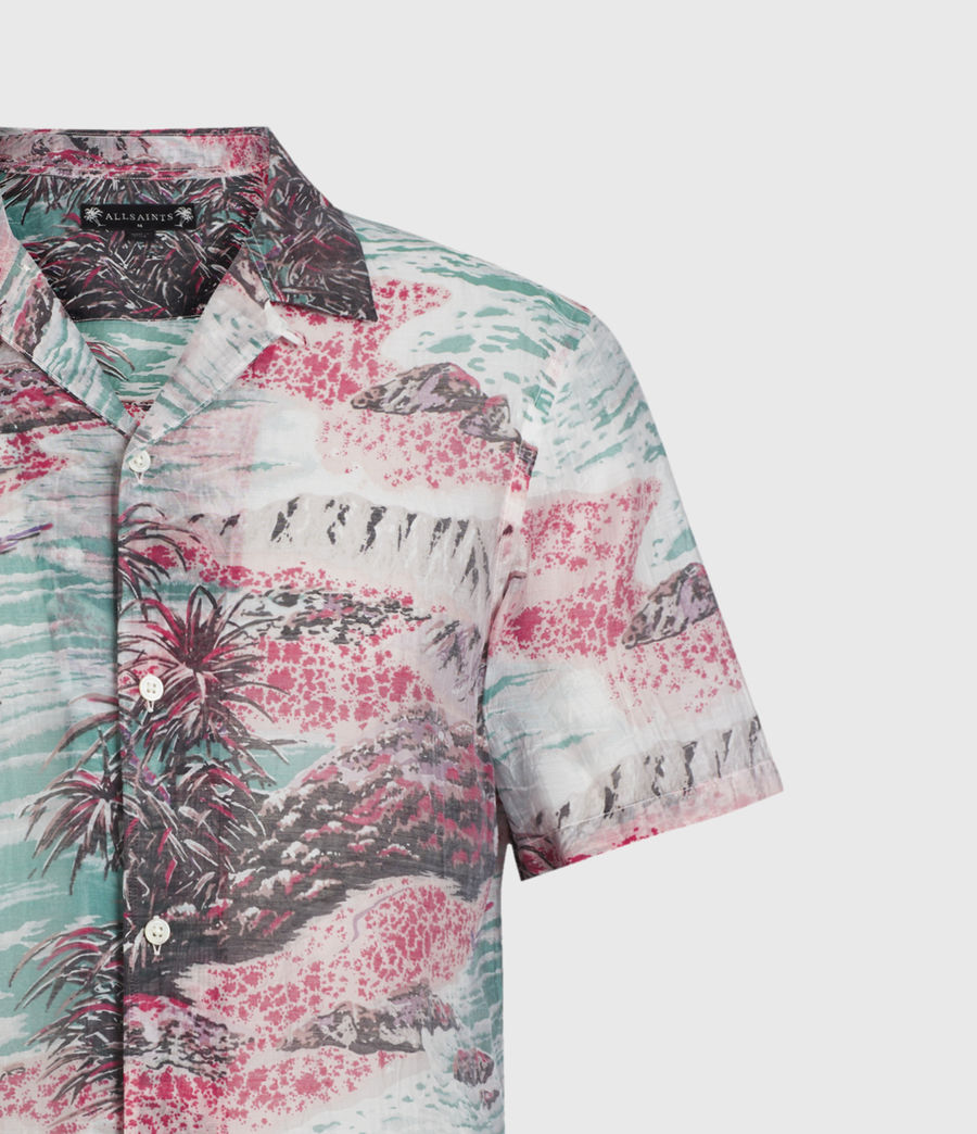 Men's Castaway Shirt (pink_green) - Image 3