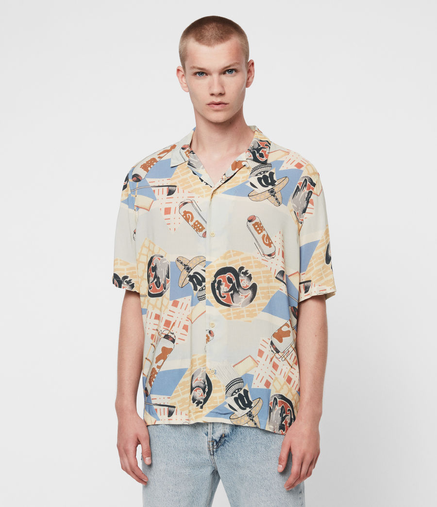Men's Scroll Shirt (blue) - Image 1