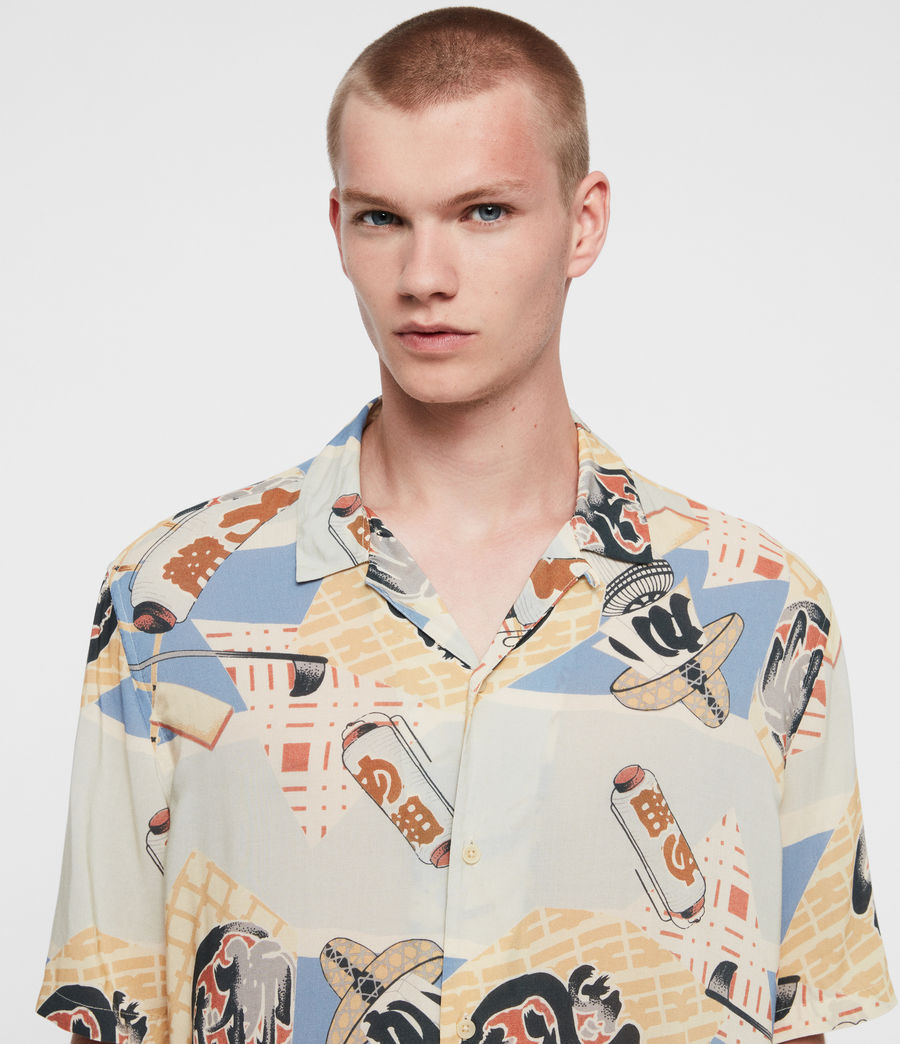 Mens Scroll Shirt (blue) - Image 2