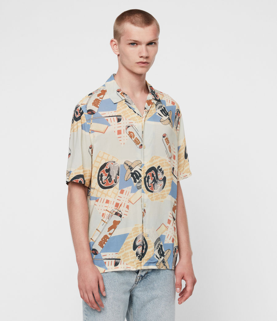 Men's Scroll Shirt (blue) - Image 3