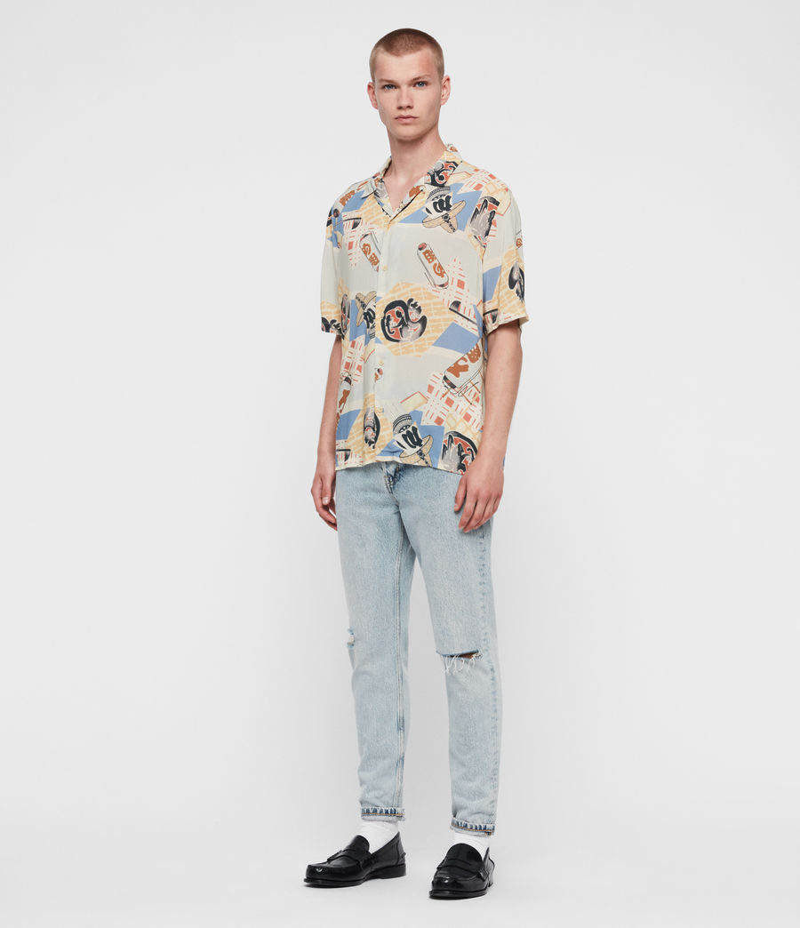 Men's Scroll Shirt (blue) - Image 4