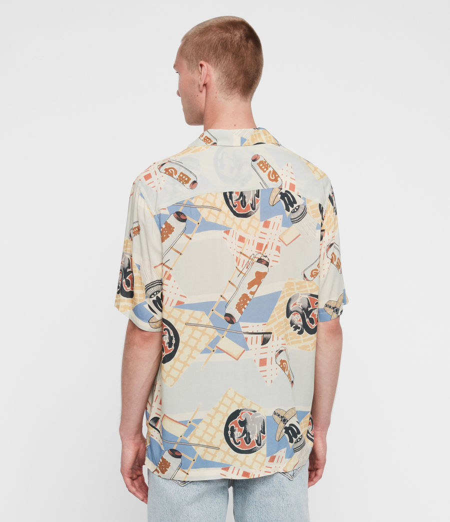 Men's Scroll Shirt (blue) - Image 5