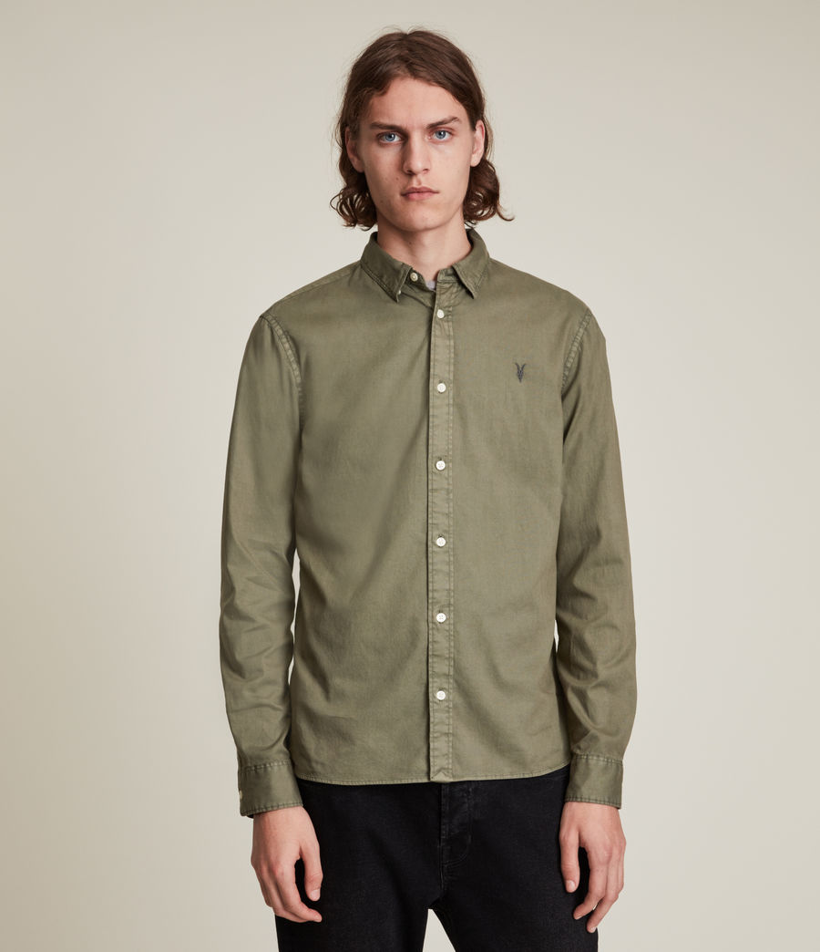 Men's Hawthorne Shirt (nettle_green) - Image 1