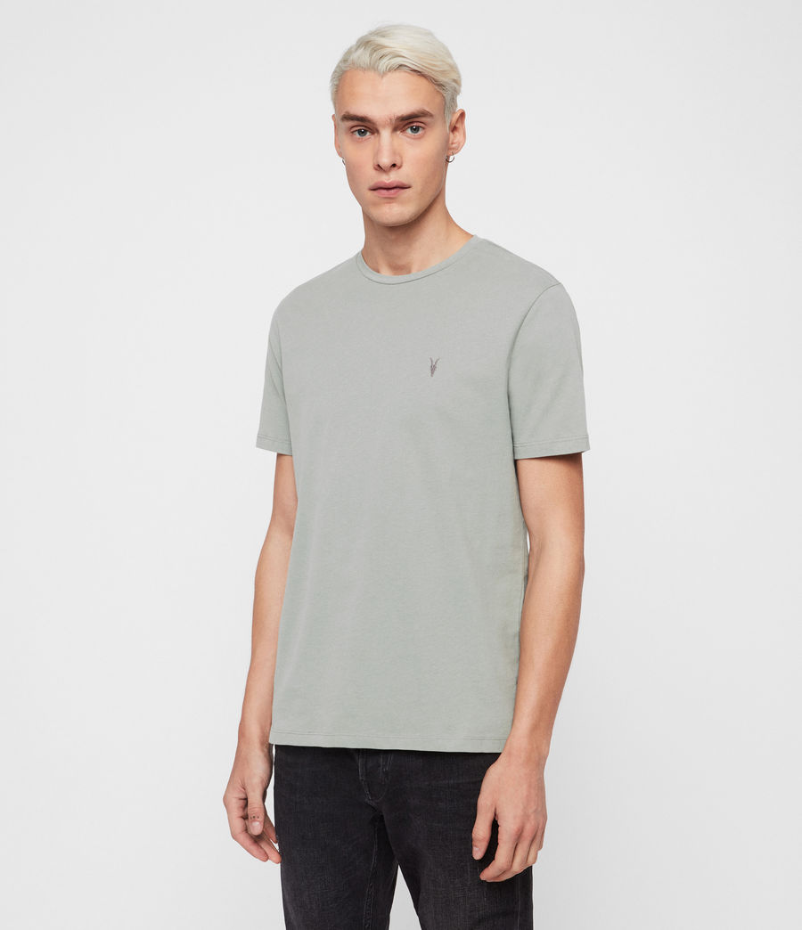 Herren Brace Short Sleeve Crew T-Shirt (mint_green) - Image 2
