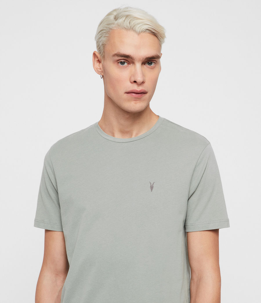 Herren Brace Short Sleeve Crew T-Shirt (mint_green) - Image 4