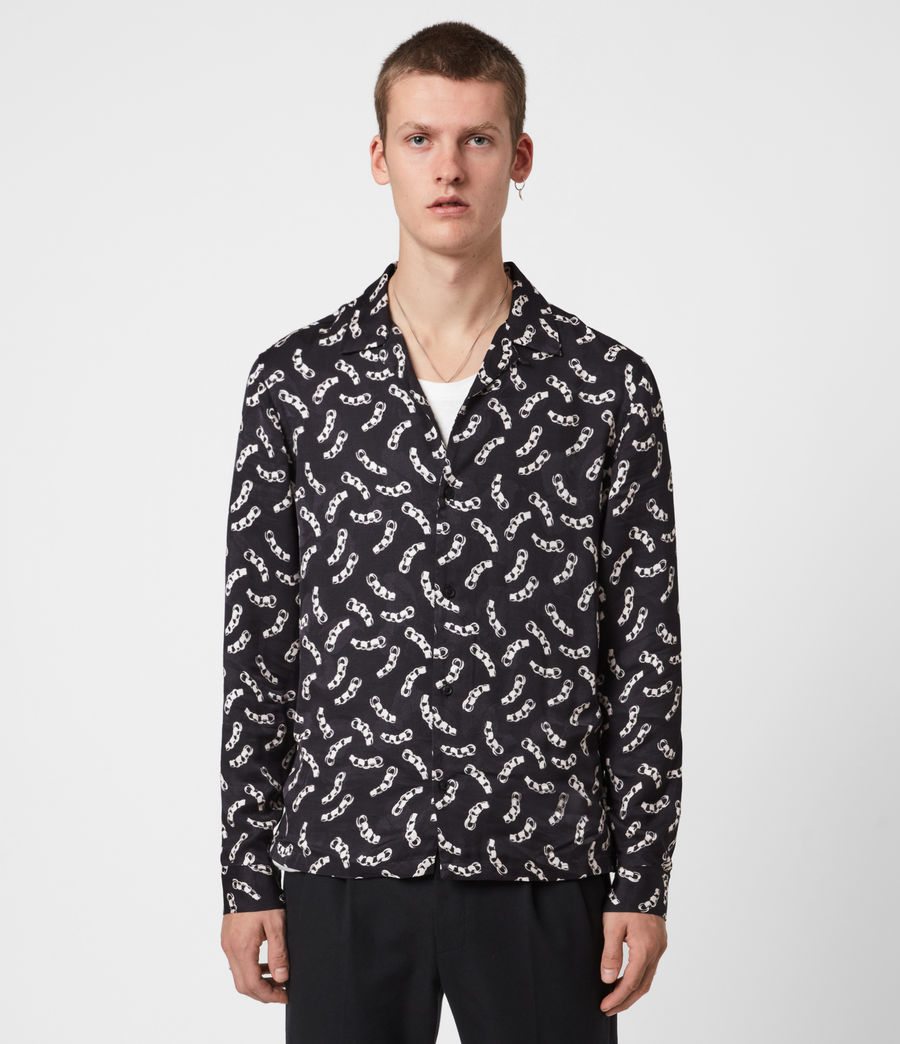Mens Bonds Shirt (jet_black_ecru) - Image 1