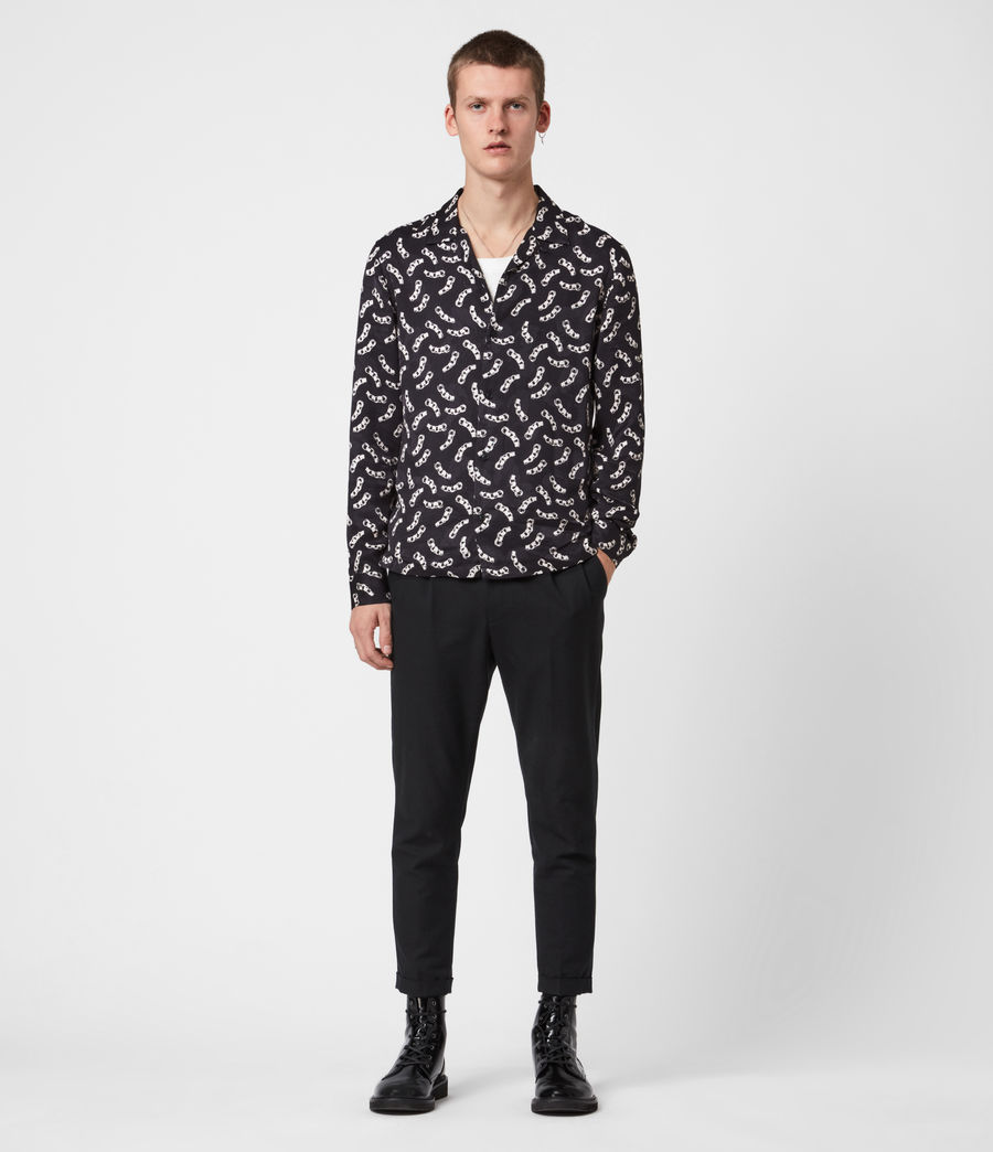 Mens Bonds Shirt (jet_black_ecru) - Image 4