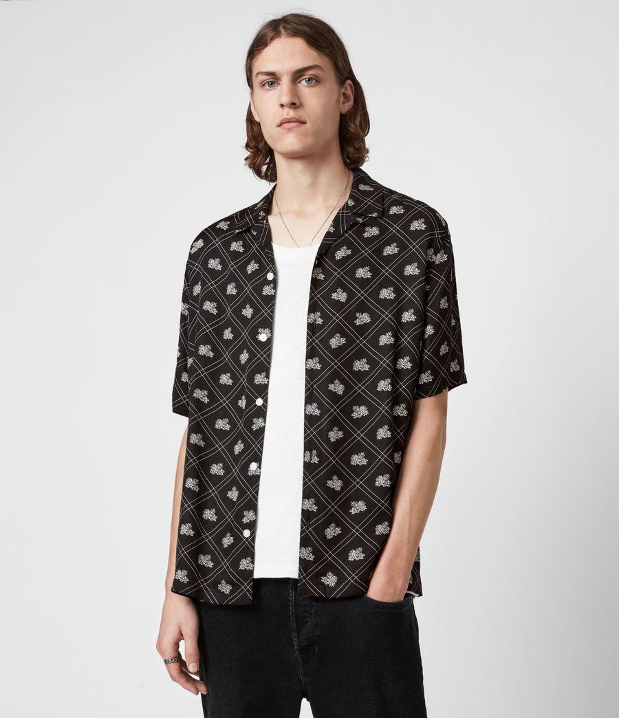 Mens Rose Check Shirt (jet_black) - Image 1