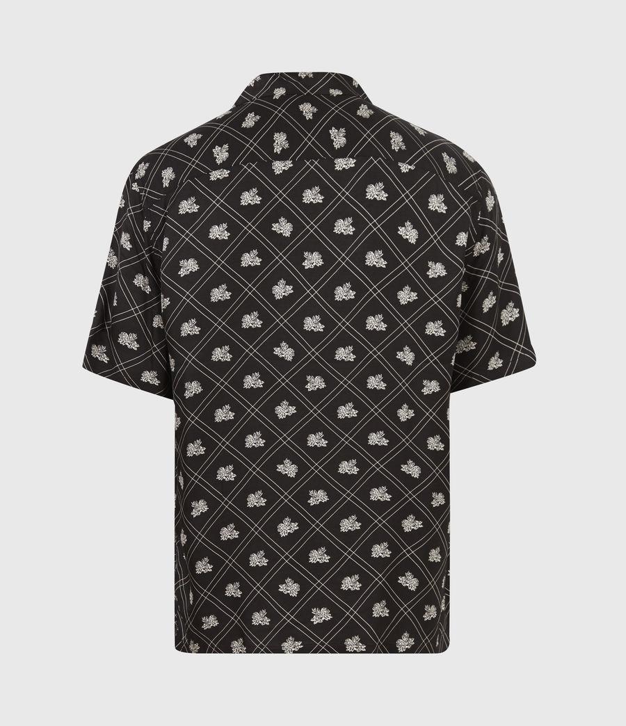 Mens Rose Check Shirt (jet_black) - Image 3