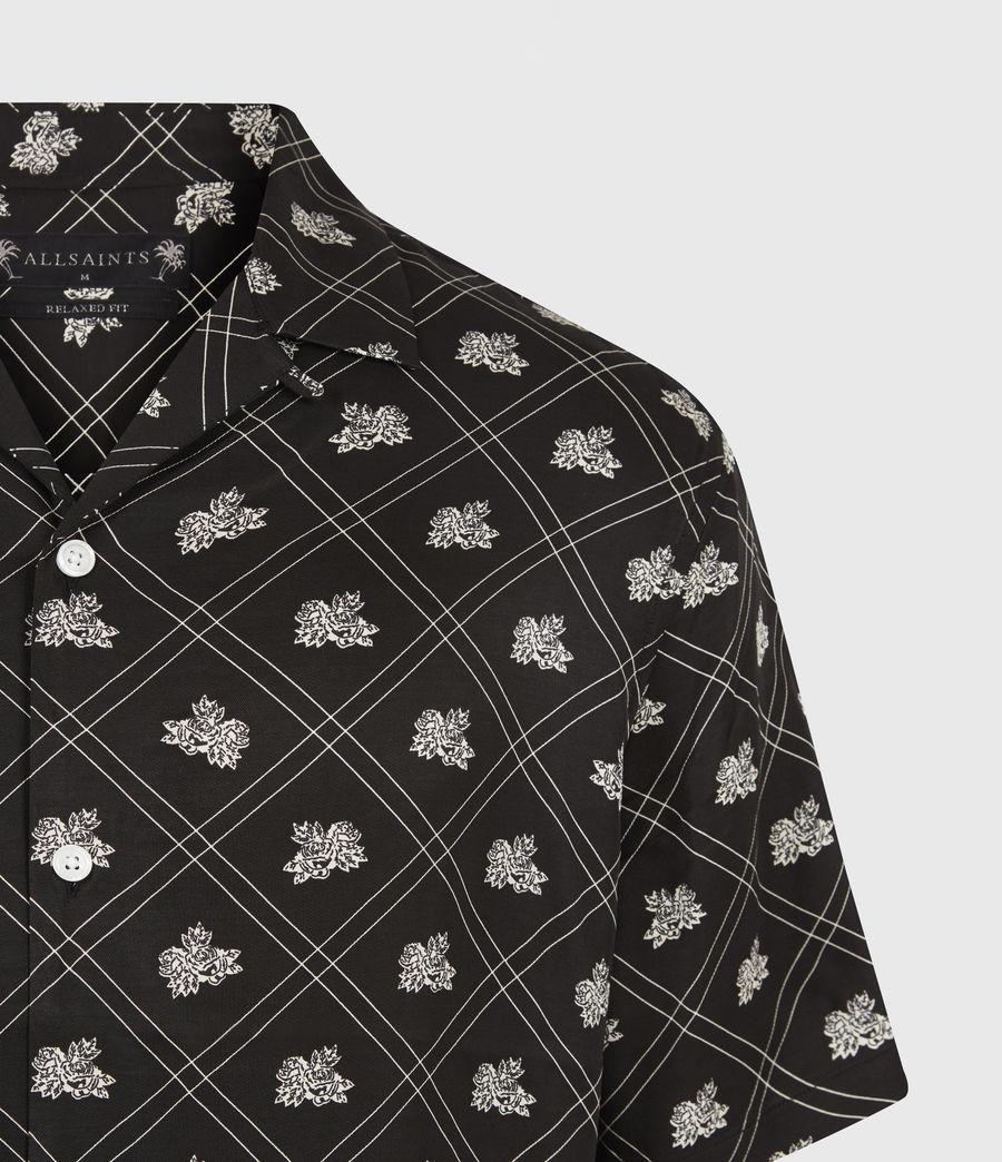 Mens Rose Check Shirt (jet_black) - Image 5