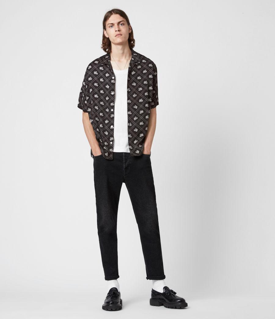 Mens Rose Check Shirt (jet_black) - Image 6