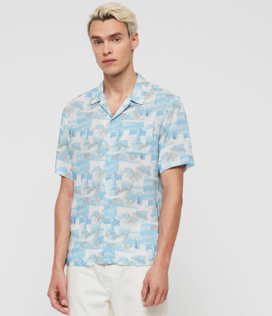Mens Sayonara Shirt (aqua_blue) - Image 2