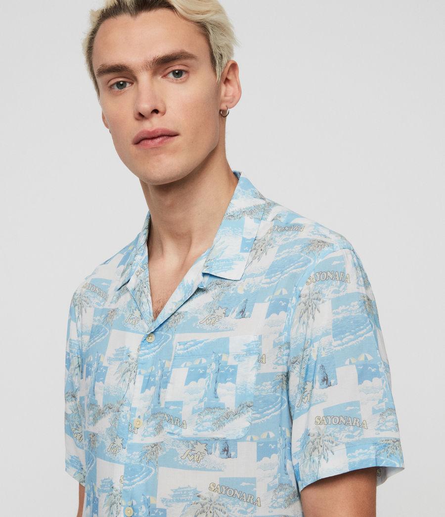 Mens Sayonara Shirt (aqua_blue) - Image 4