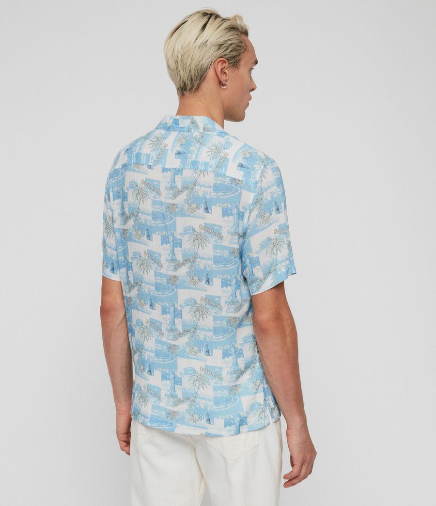 Mens Sayonara Shirt (aqua_blue) - Image 5