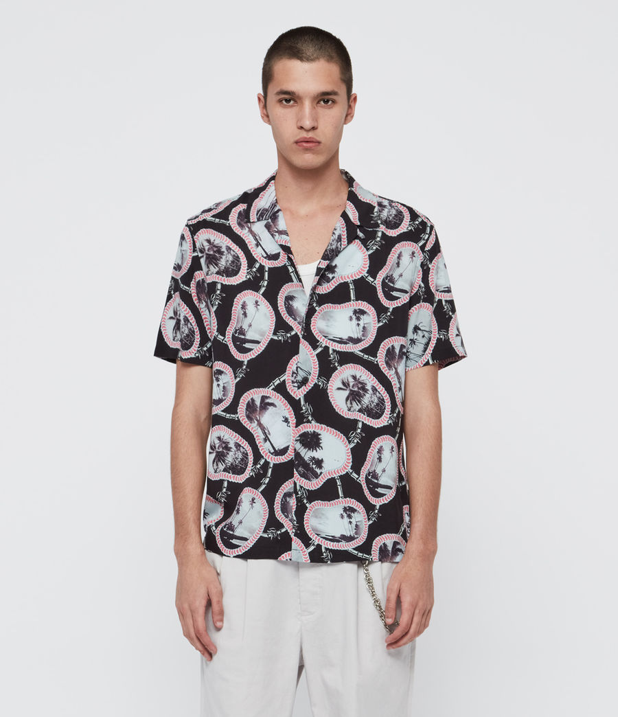 Men's Islandz Shirt (jet_black) - Image 1