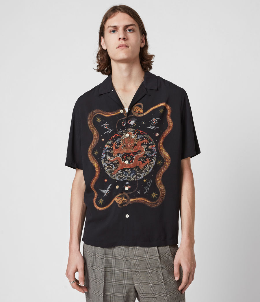 Men's Psychadelia Shirt (jet_black) - Image 1