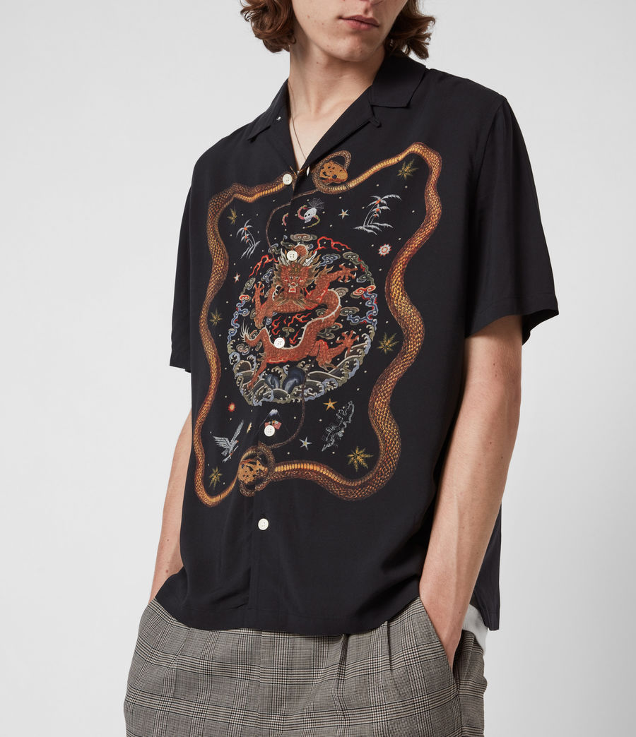 Men's Psychadelia Shirt (jet_black) - Image 4