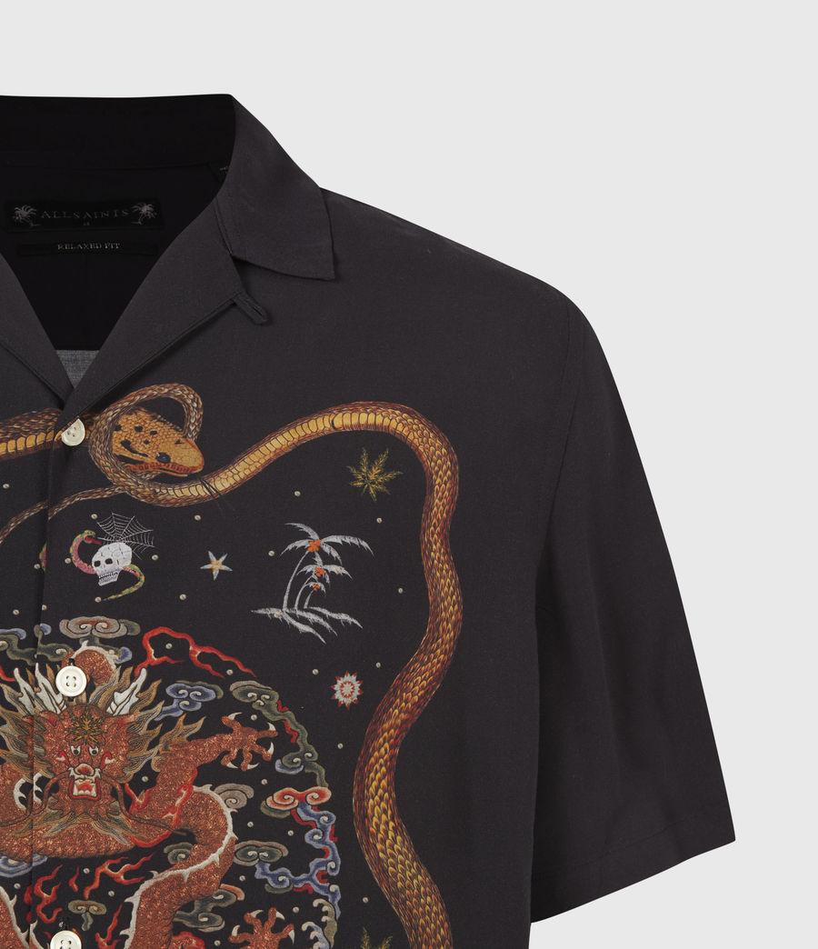 Men's Psychadelia Shirt (jet_black) - Image 5