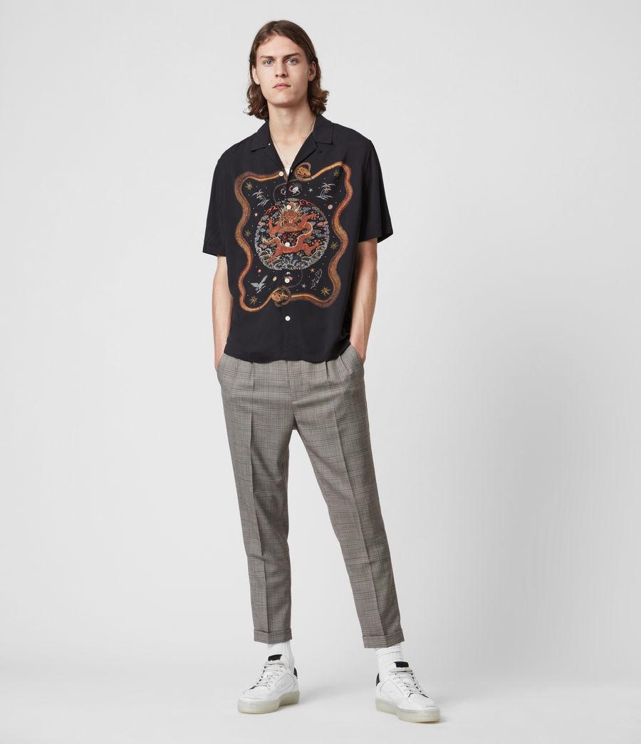 Men's Psychadelia Shirt (jet_black) - Image 7