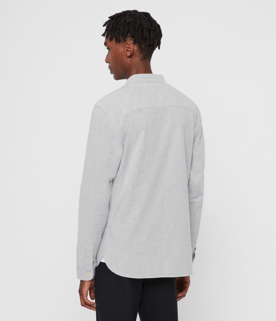 Hommes Augusta Long Sleeve Shirt (charcoal_grey) - Image 5