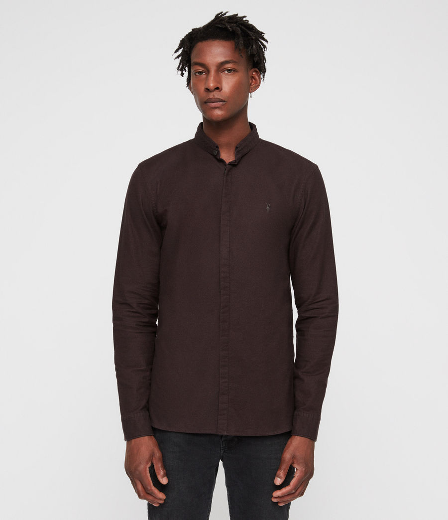 Uomo Augusta Shirt (oxblood_red) - Image 1
