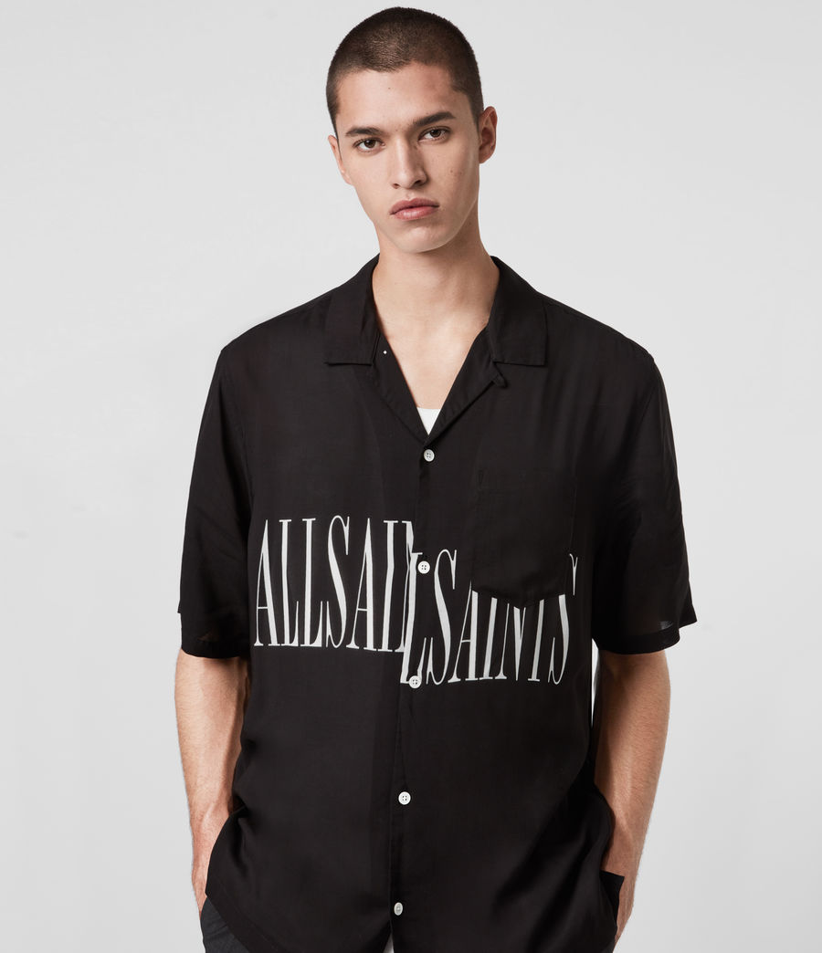 Herren Stamp Shirt (jet_black) - Image 1