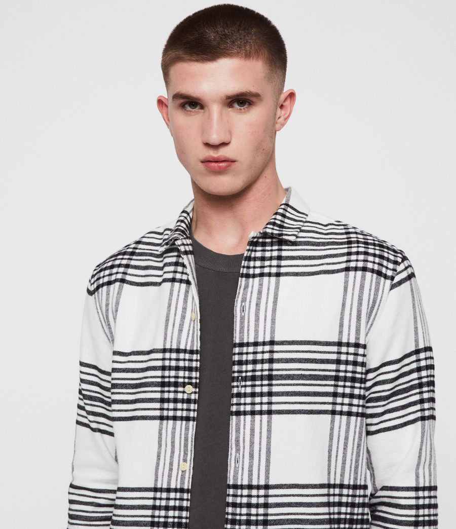 Hombres Camisa Moritz (black_white) - Image 2