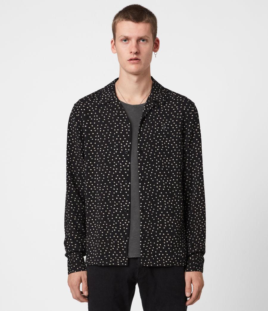 Men's Ardor Shirt (jet_black_ecru) - Image 1