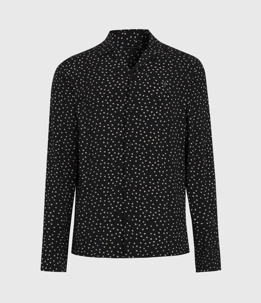Men's Ardor Shirt (jet_black_ecru) - Image 2