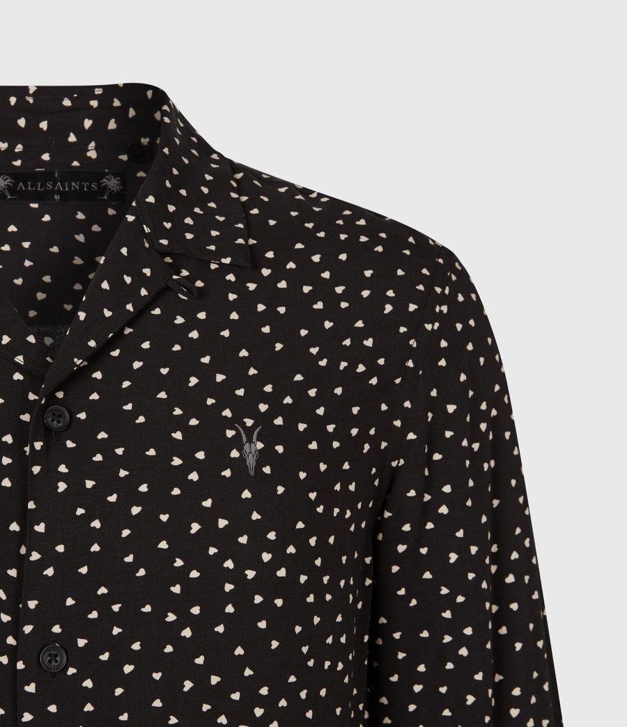 Men's Ardor Shirt (jet_black_ecru) - Image 5