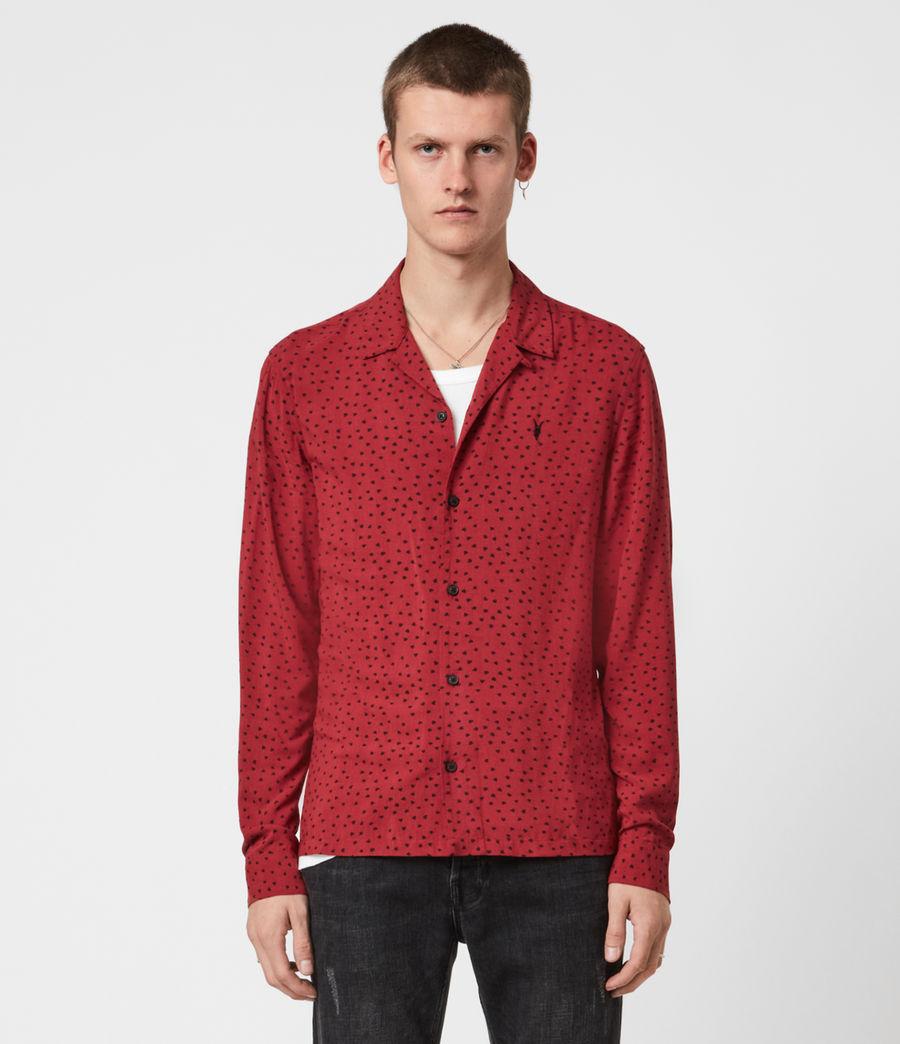 Men's Ardor Shirt (junberry_rd_jt_blk) - Image 1