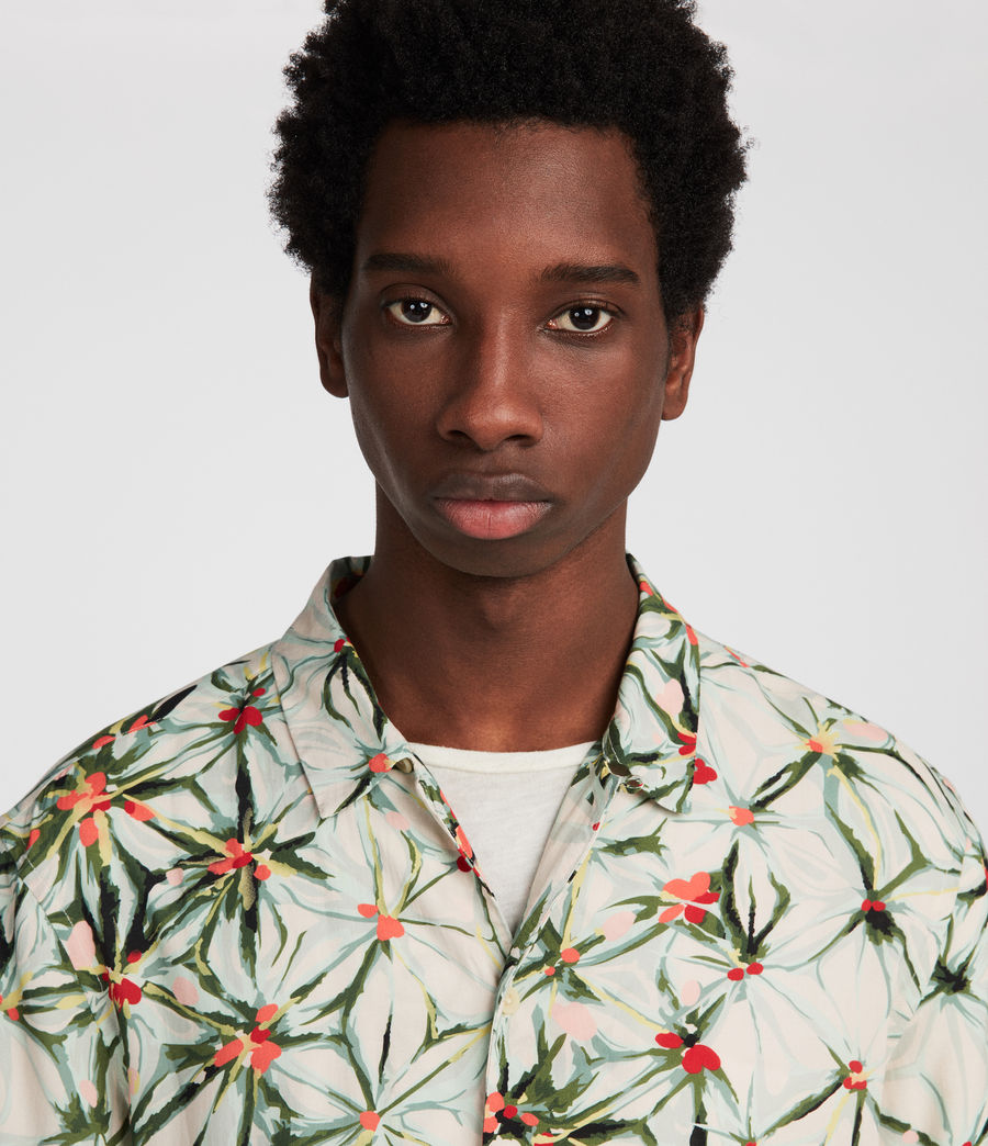 Mens Yuka Hawaiian Shirt (ecru_white) - Image 1