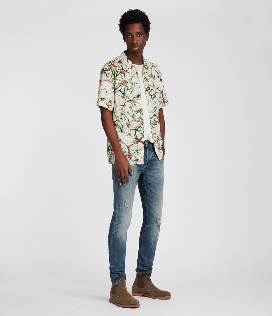 Mens Yuka Hawaiian Shirt (ecru_white) - Image 2