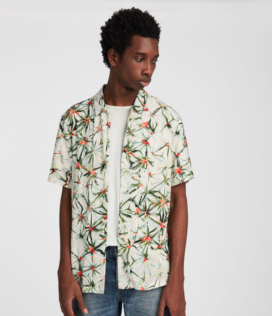 Men's Yuka Hawaiian Shirt (ecru_white) - Image 3