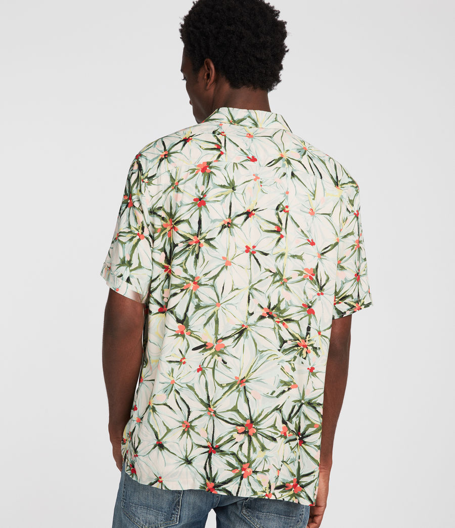 Men's Yuka Hawaiian Shirt (ecru_white) - Image 4