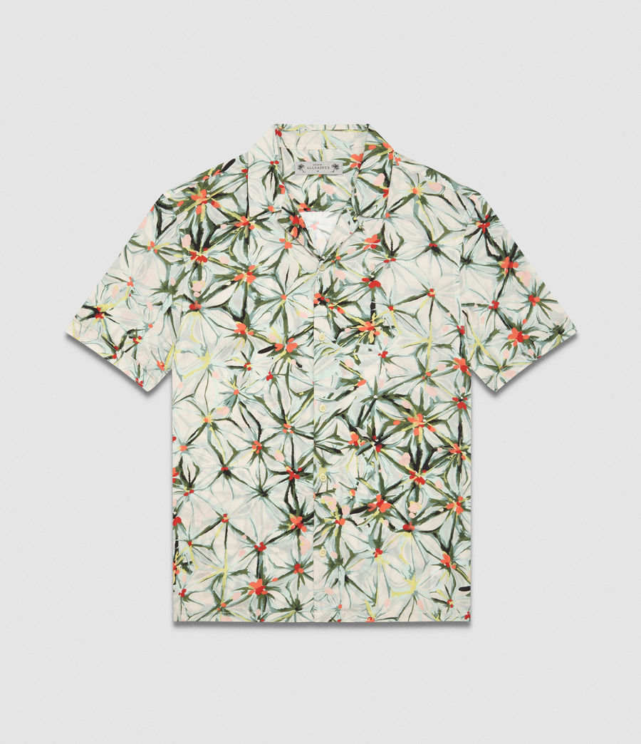 Men's Yuka Hawaiian Shirt (ecru_white) - Image 5