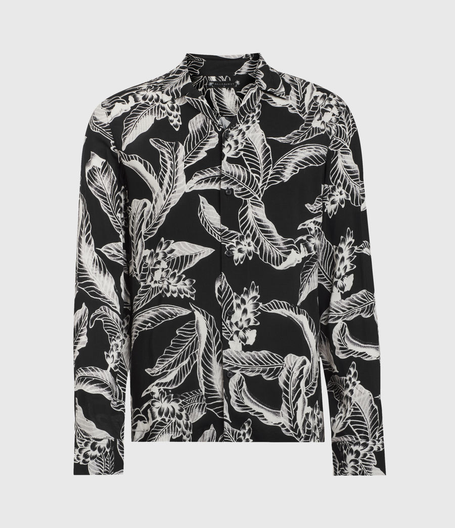 Men's Kahuna Long Sleeve Shirt (jet_black) - Image 1