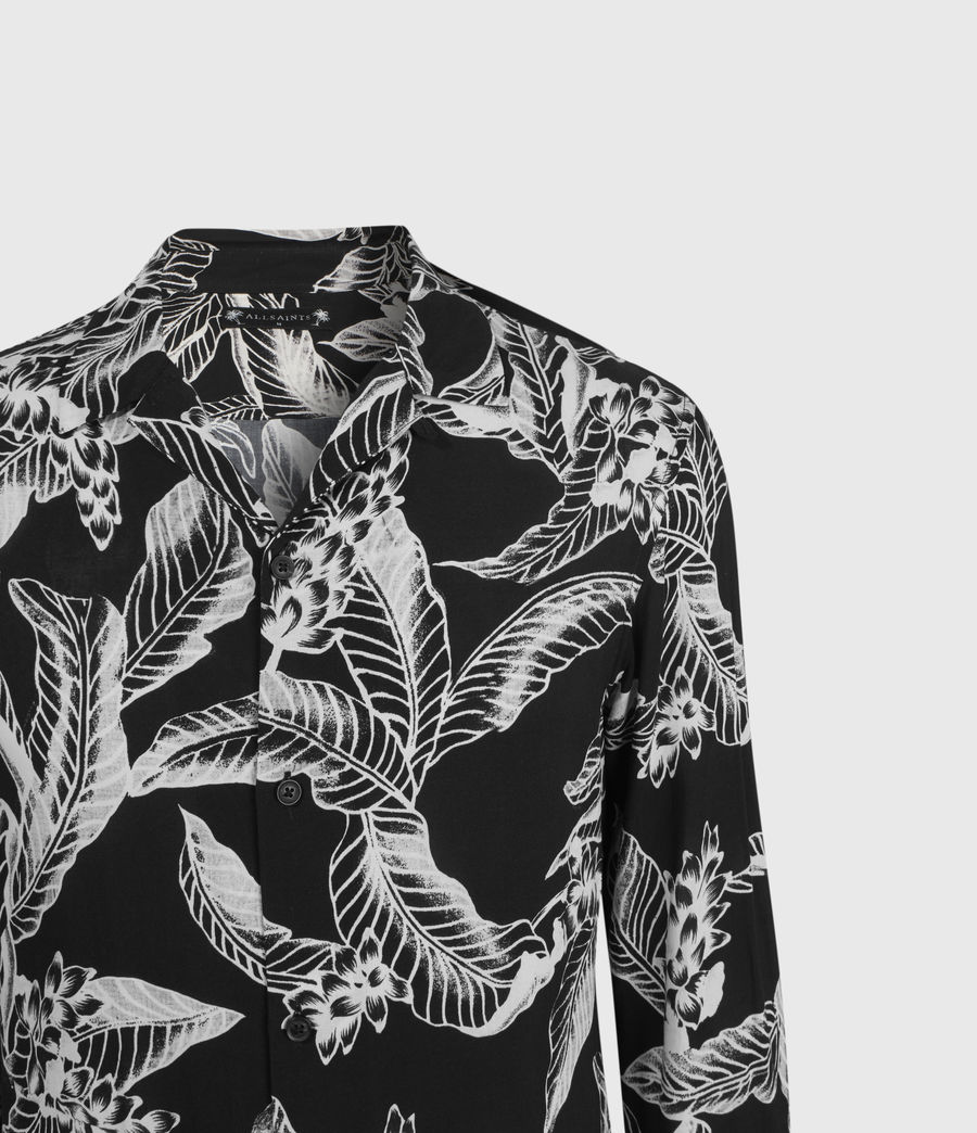 Men's Kahuna Long Sleeve Shirt (jet_black) - Image 3
