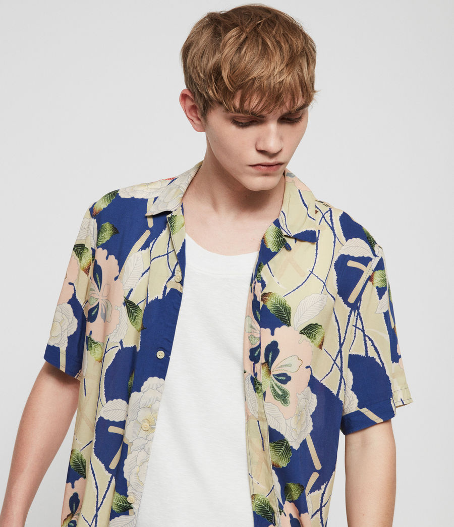 Mens Fuyugi Hawaiian Shirt (ink_navy) - Image 3