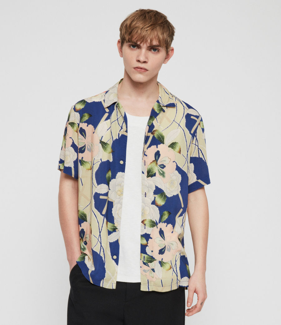 Mens Fuyugi Hawaiian Shirt (ink_navy) - Image 4