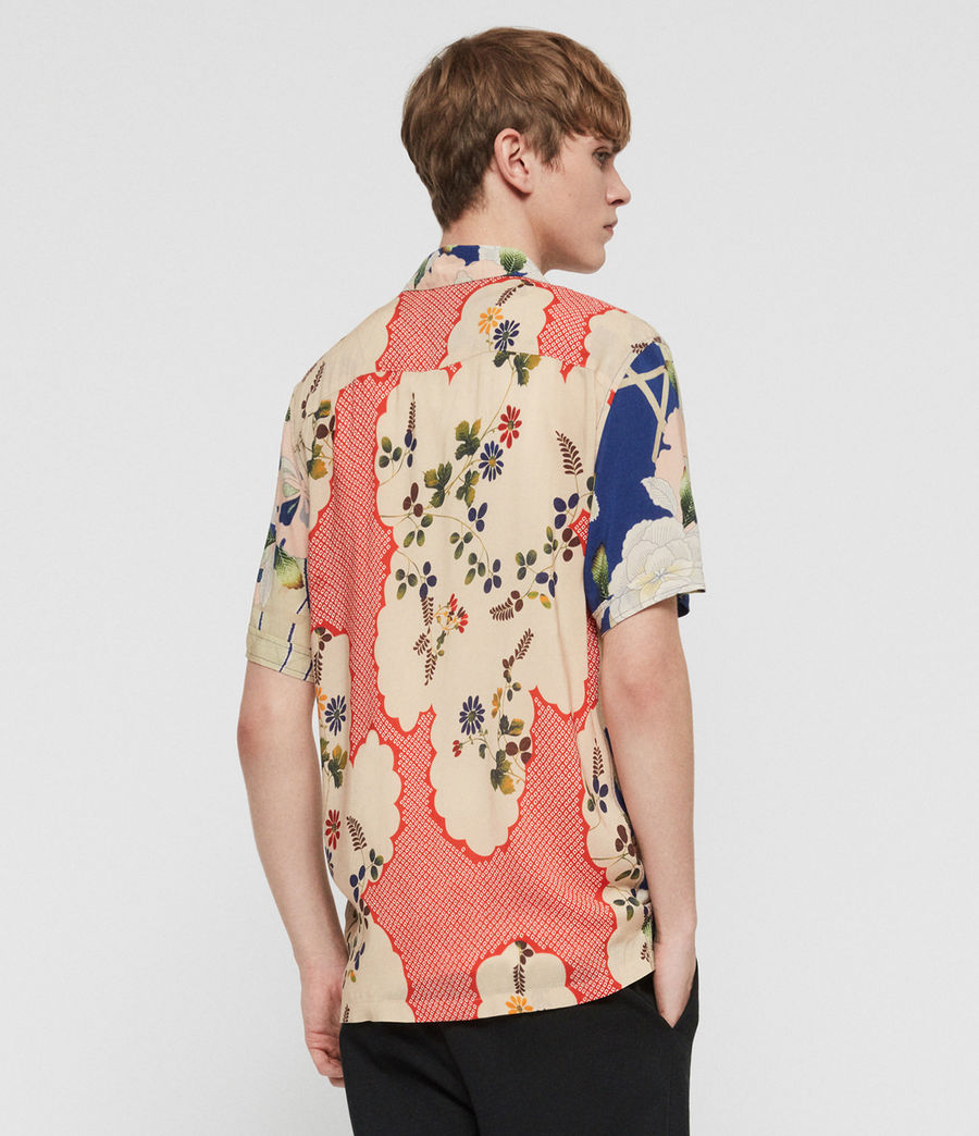 Mens Fuyugi Hawaiian Shirt (ink_navy) - Image 5