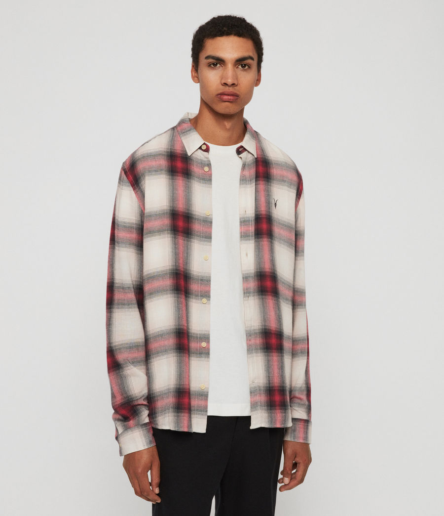 Mens Myers Shirt (pink_white) - Image 1