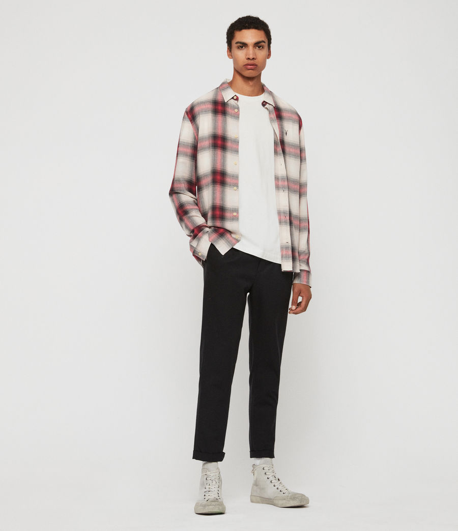 Mens Myers Shirt (pink_white) - Image 2