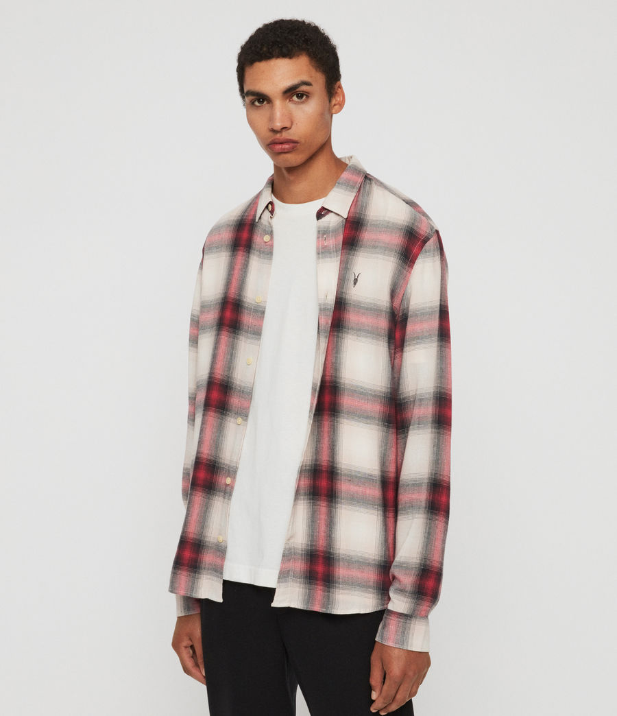 Mens Myers Shirt (pink_white) - Image 3