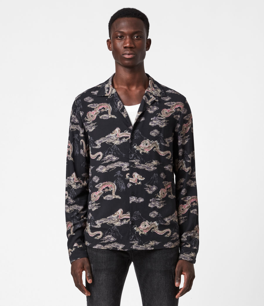 Men's Hongshan Shirt (jet_black_grey) - Image 1