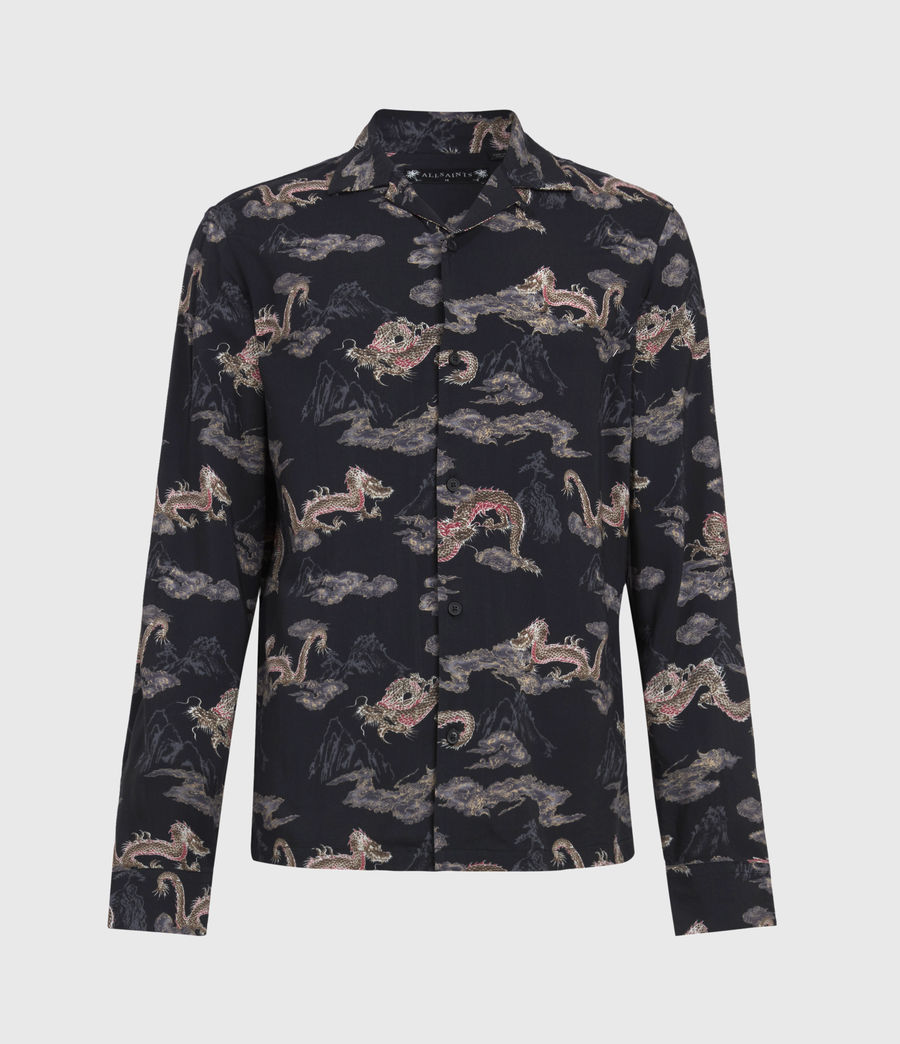 Men's Hongshan Shirt (jet_black_grey) - Image 2