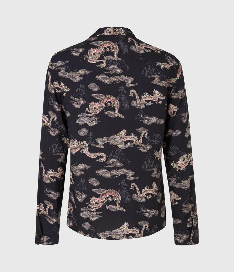 Men's Hongshan Shirt (jet_black_grey) - Image 3
